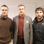 Ян Драновский и Максим Андрейченко на курсах повышении квалификации, с президентом Профессональной теннисной лиги Дмитрием Вихаревым.